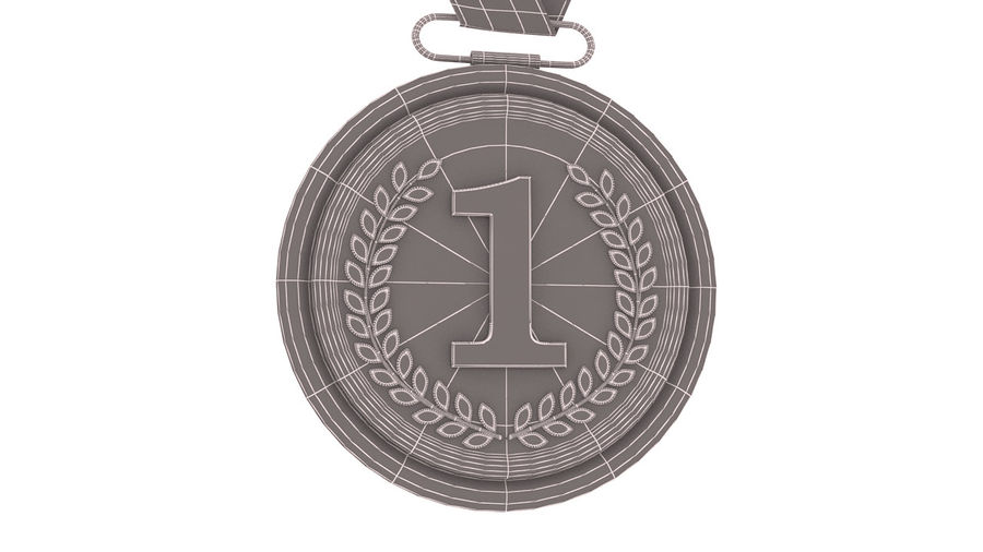 Gold Medal royalty-free 3d model - Preview no. 9