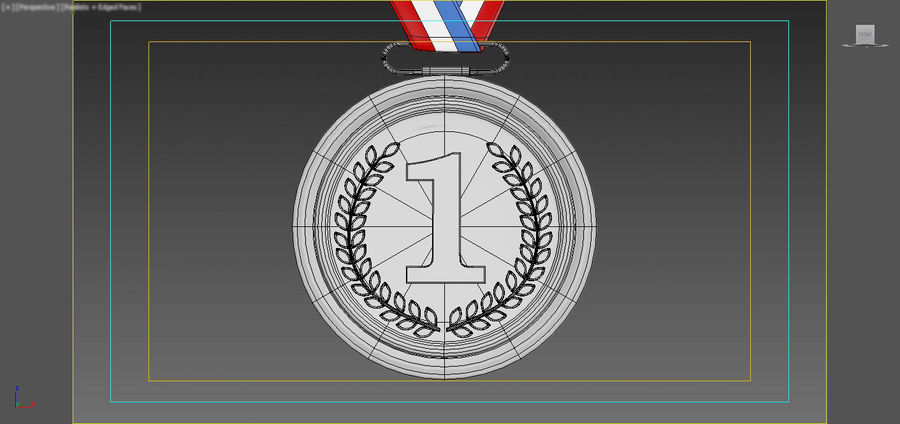 Gold Medal royalty-free 3d model - Preview no. 12