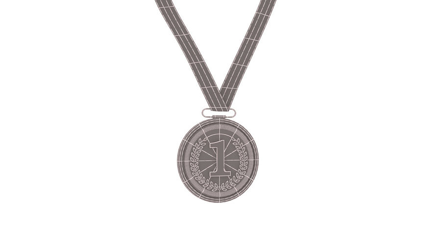 Gold Medal royalty-free 3d model - Preview no. 8