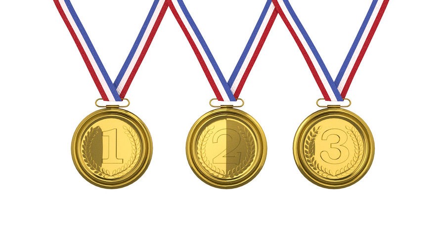 Gold Medal royalty-free 3d model - Preview no. 5