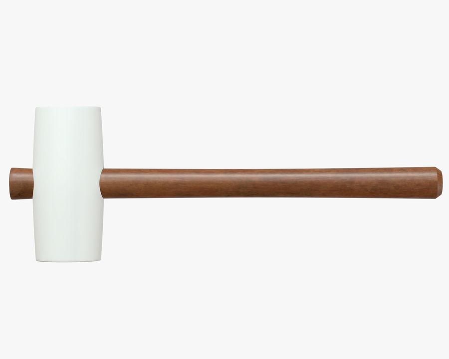 Beyaz Lastik Tokmak royalty-free 3d model - Preview no. 2