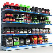 Sports Store Nutrition Shelves 3d model