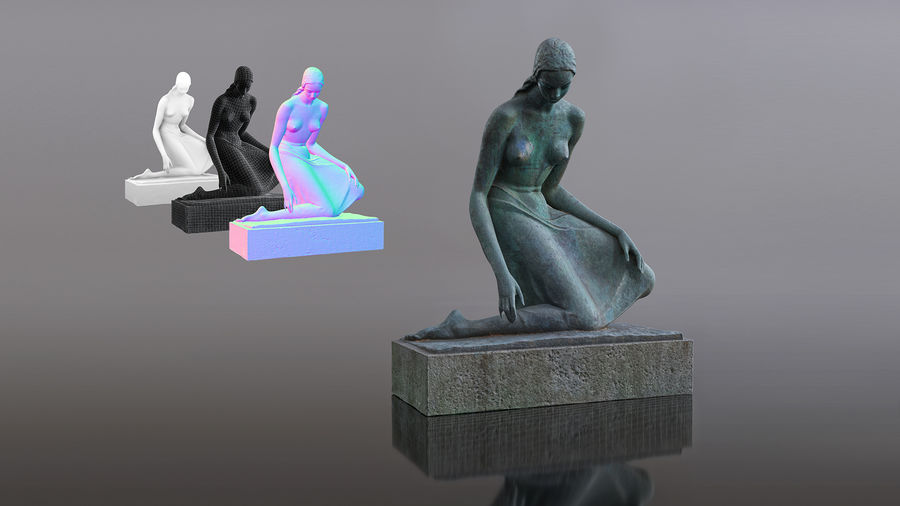 Bronze Sculpture royalty-free 3d model - Preview no. 2