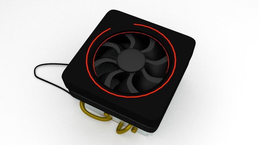 AMD Wraith Cooler royalty-free 3d model - Preview no. 3