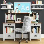 办公家具3 3d model