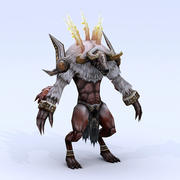 Låg poly 3D-monster - Lord of the Conqueror 3d model