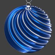 christmas ball blue 3d model