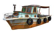 fisher boat 3d model