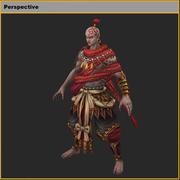 低ポリ3Dキャラクター-赤の可愛い人 3d model