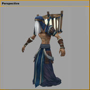 Personnages 3D low poly - Fishing Moon People 3d model