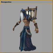Düşük Poli 3D karakterler - Fishing Moon People 3d model