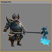 Low poly 3D characters-Destruction 3d model