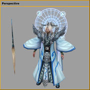 Low poly 3D characters- Taiyi real people 3d model