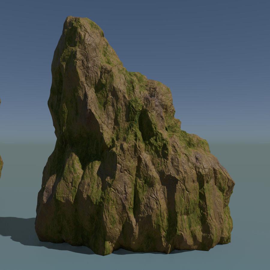 Pakiet skał leśnych royalty-free 3d model - Preview no. 5