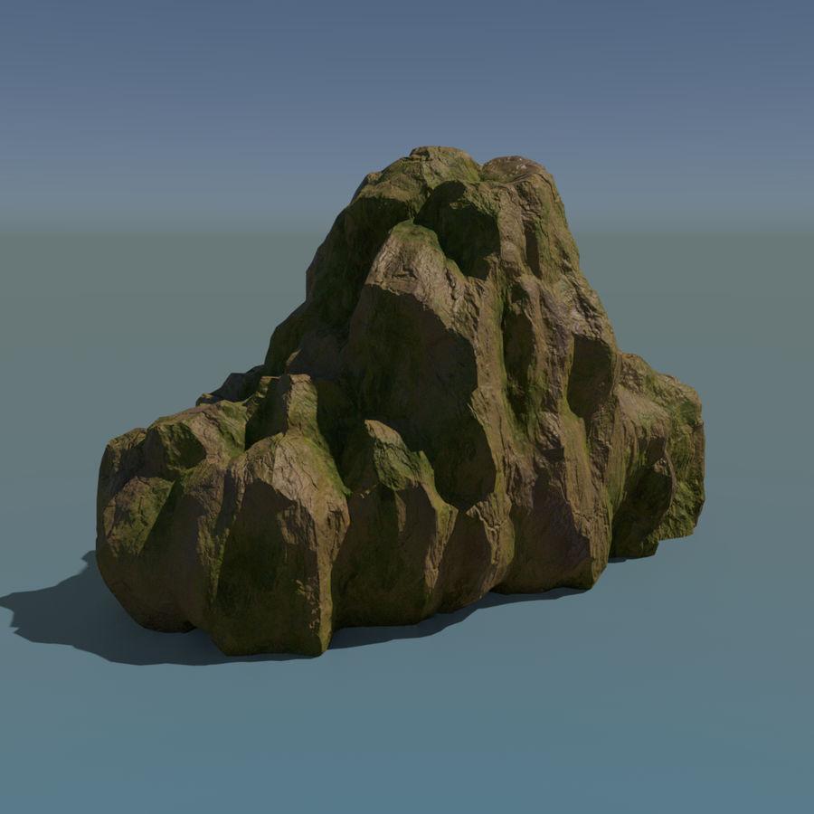Pakiet skał leśnych royalty-free 3d model - Preview no. 8