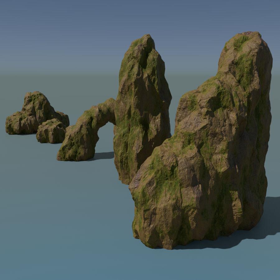 Pakiet skał leśnych royalty-free 3d model - Preview no. 1
