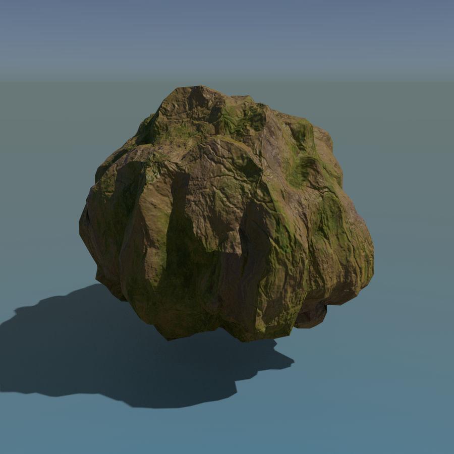 Pakiet skał leśnych royalty-free 3d model - Preview no. 9