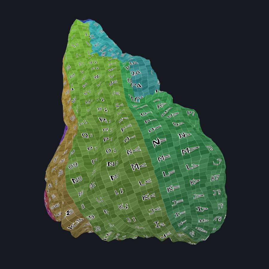 Pakiet skał leśnych royalty-free 3d model - Preview no. 13
