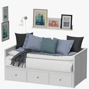 Ikea Hemnes Bett 3d model