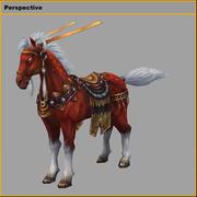 Low poly 3D znaków-król koni 3d model