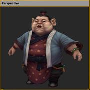 低聚3D角色猪 3d model