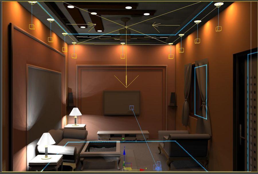 室内设计 royalty-free 3d model - Preview no. 3