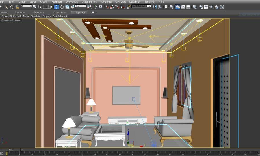 室内设计 royalty-free 3d model - Preview no. 4