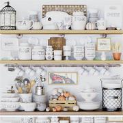 Colección de utensilios de cocina. modelo 3d