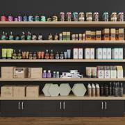 化妆品套装展示柜 3d model