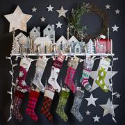 Christmas Stockings & Decor 3d model