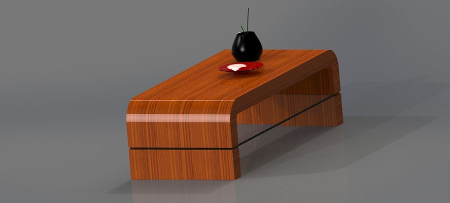 Living Room Furniture royalty-free 3d model - Preview no. 3