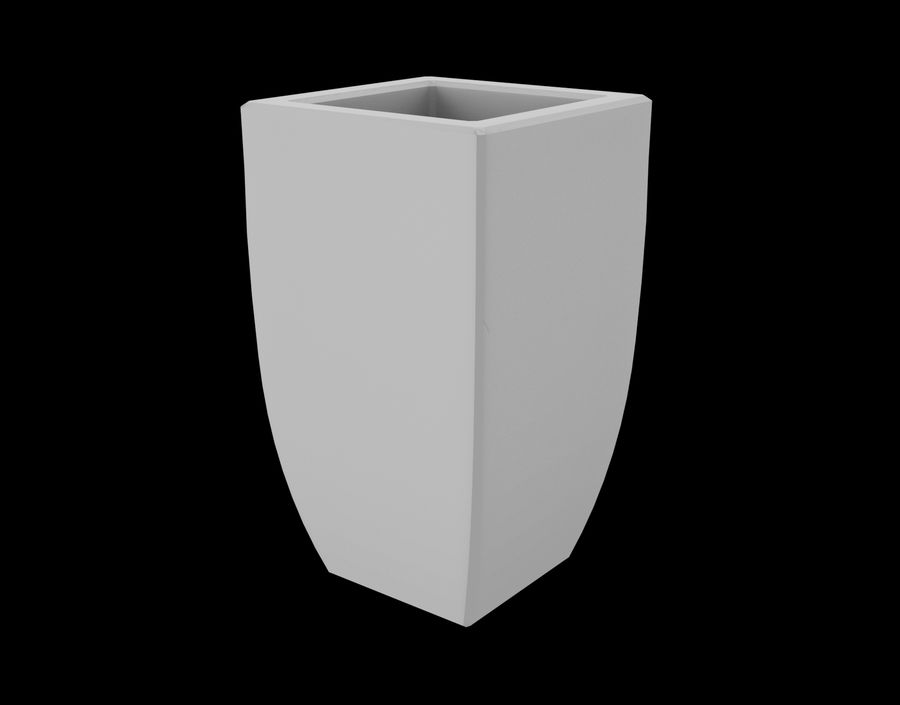 Clay Flower Pot royalty-free 3d model - Preview no. 15