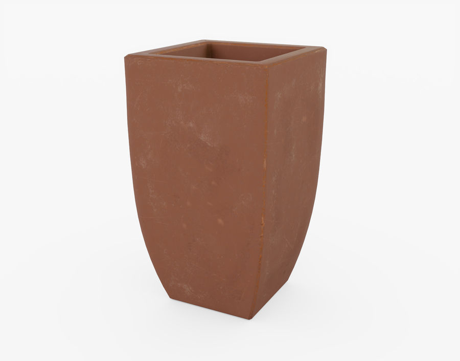 Clay Flower Pot royalty-free 3d model - Preview no. 5