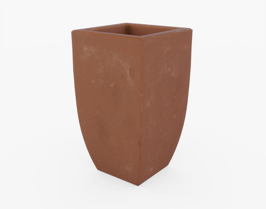 Clay Flower Pot royalty-free 3d model - Preview no. 12