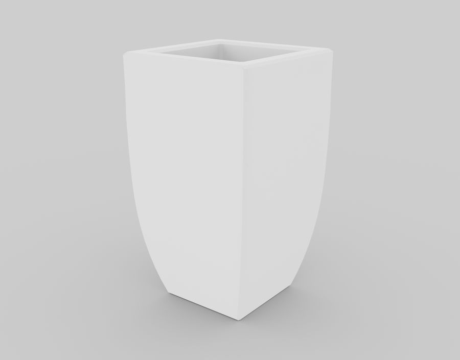 Clay Flower Pot royalty-free 3d model - Preview no. 14