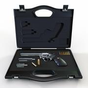 Vapenväska med en revolver Colt Python 357 3d model