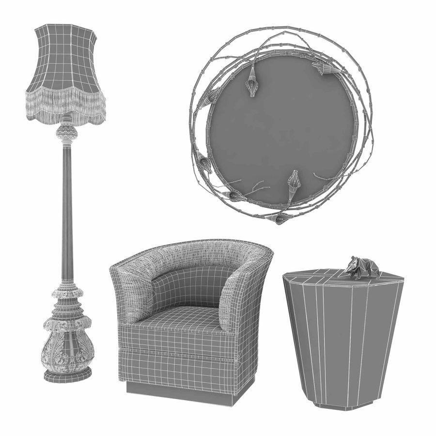 Conjunto de muebles Koket modelos 3d royalty-free modelo 3d - Preview no. 12