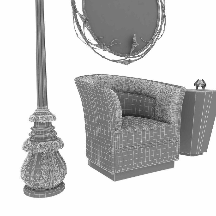 Conjunto de muebles Koket modelos 3d royalty-free modelo 3d - Preview no. 14
