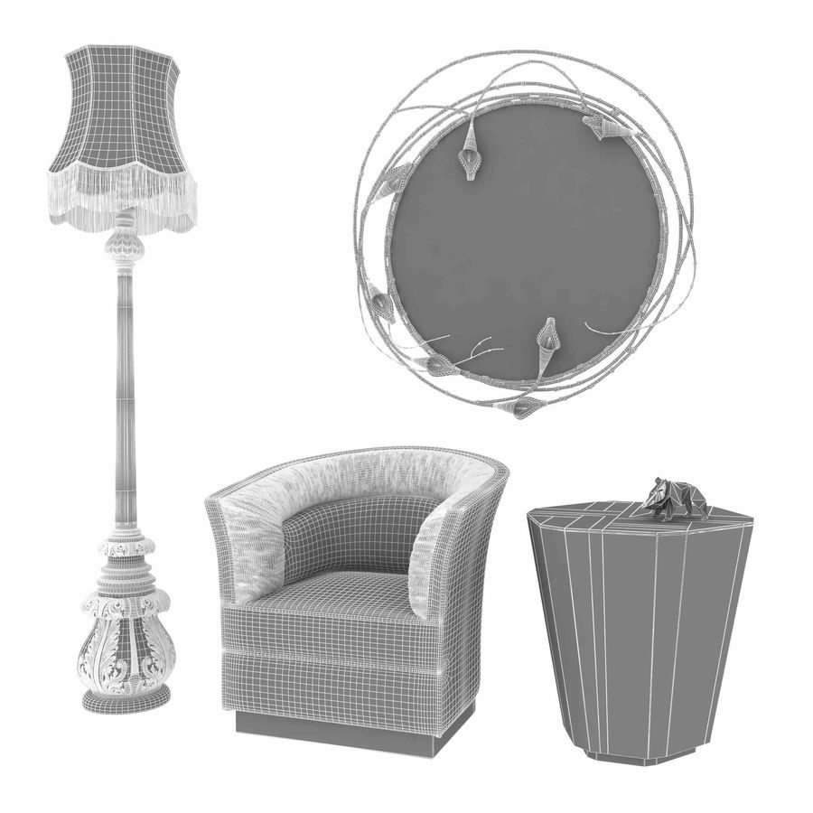 Conjunto de muebles Koket modelos 3d royalty-free modelo 3d - Preview no. 13