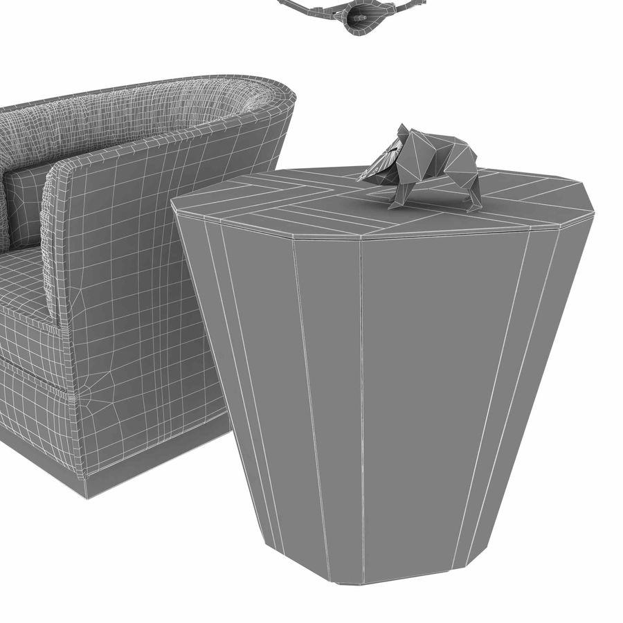 Conjunto de muebles Koket modelos 3d royalty-free modelo 3d - Preview no. 16
