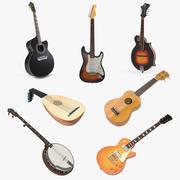 Kolekcja modeli 3D instrumentów strunowych 2 3d model