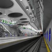 Wilhelminaplein Metro Station 3d model