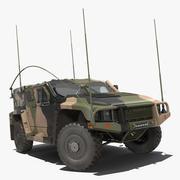 Modèle 3D gréé de véhicule protégé à haute mobilité Hawkei PMV 4x4 3d model