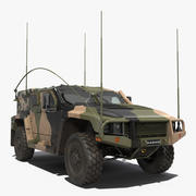 Véhicule protégé à haute mobilité Hawkei PMV 4x4 Camo Modèle 3D 3d model