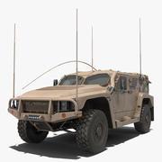 Veículo 4x4 Hawkei Thales 3d model