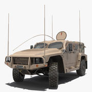 Hawkei 4x4 Protected Mobility Vehicle Rigged Modèle 3D 3d model