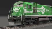 Model 3D lokomotywy Low-poly 3d model