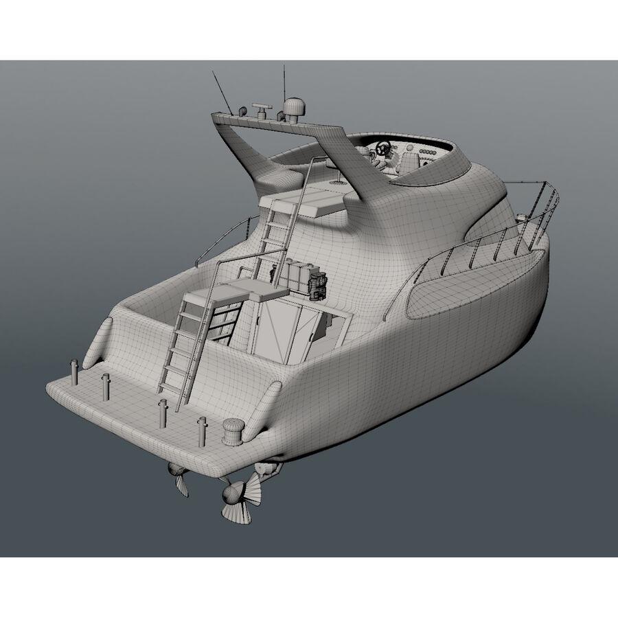 Bateau de croisière royalty-free 3d model - Preview no. 16
