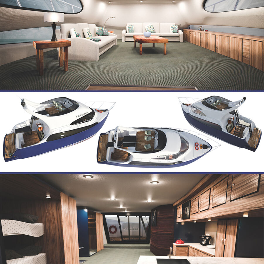 Bateau de croisière royalty-free 3d model - Preview no. 1