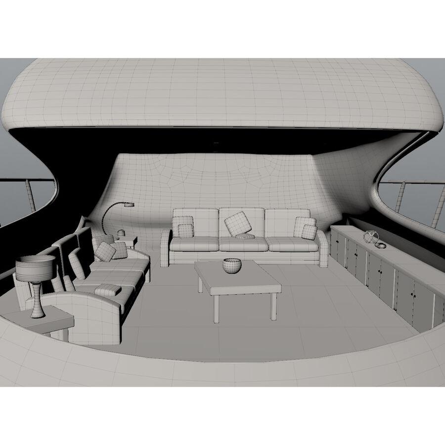 Bateau de croisière royalty-free 3d model - Preview no. 18